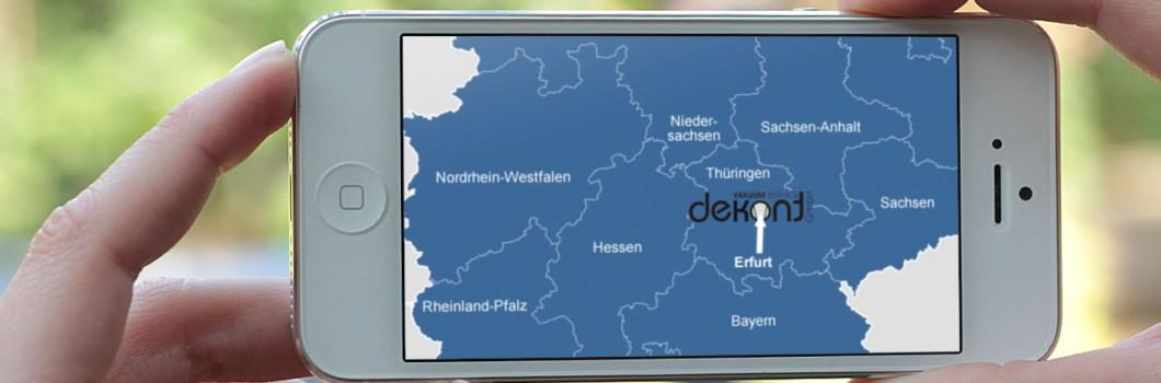 Anfahrt - Dekont Vakuum Service Erfurt