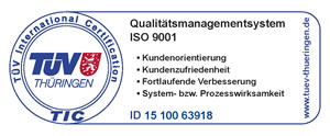TÜV Qualitätsmanagementsystem ISO 9001